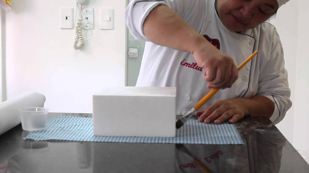 Preferência Bolo Quadrado de Pasta Americana - YouTube GJ94