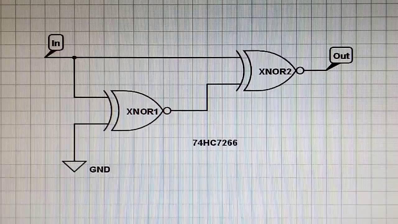 Circuito Integrado Xnor : Practica integrados compuertas logicas  y youtube