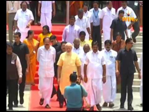 Dr T Devanathan yadav with pm modi in kalam fun