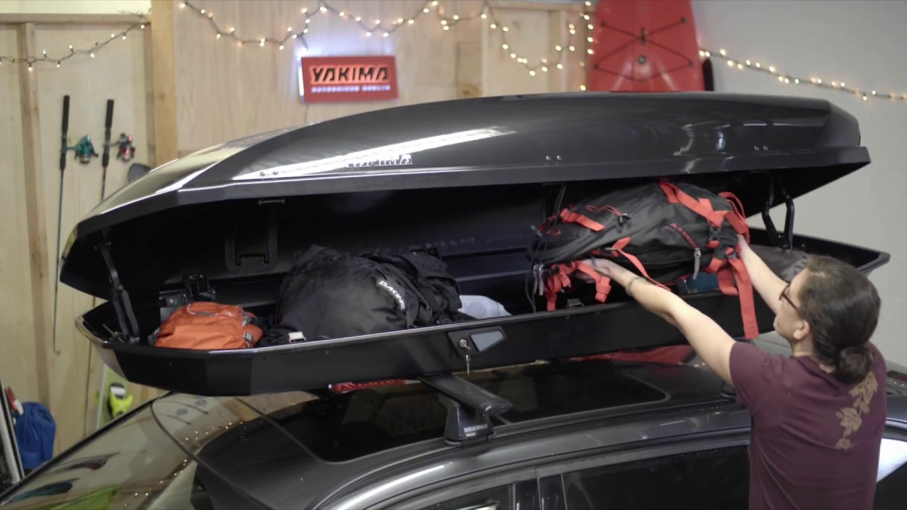 Yakima Roof Box >> Yakima ShowCase 20 Ski & Cargo Roof Box - features & demonstration - YouTube