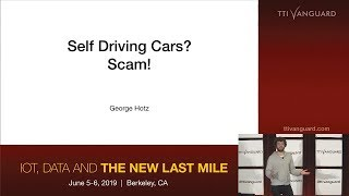 comma ai | George Hotz | An OS for Autos | Self Driving Cars? Scam!