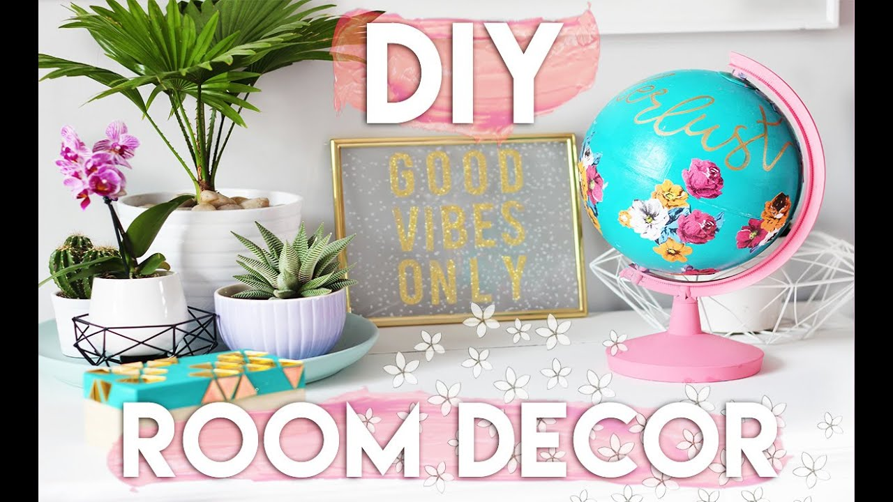 Diy summer room decor ideas decorate your room on a for Room decoration ideas 2016