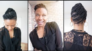 Two  Easy Flat Twists Hairstyles on 4C Hair