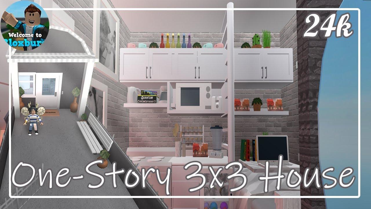 Roblox One Story 3x3 House Bloxburg Youtube