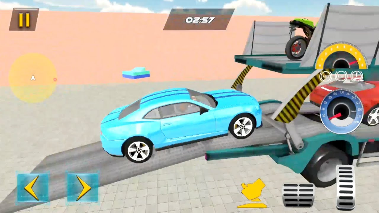 Car Transporter Game Challenges Mode: Cars & Bikes Multi Trailer Transporter – Android GamePlay 3D