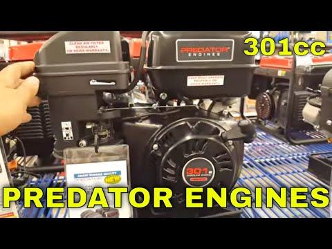 predator 8hp 301cc harbor freight close up - YouTube
