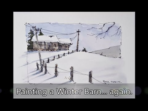 A Line And Wash Watercolor Demonstration Of Colorful Houses. Simple, Easy To Follow. Peter Sheeler