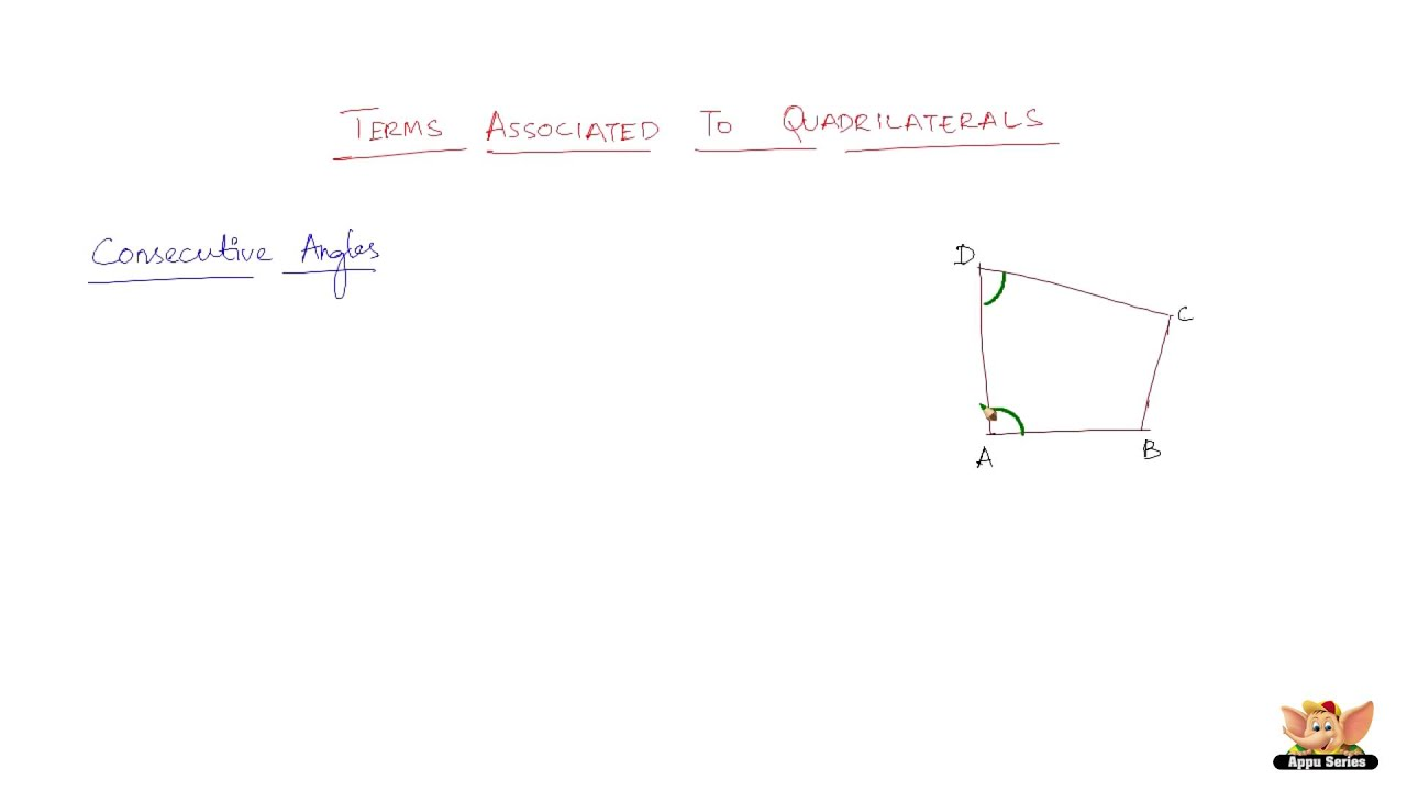What are consecutive angles in a quadrilateral