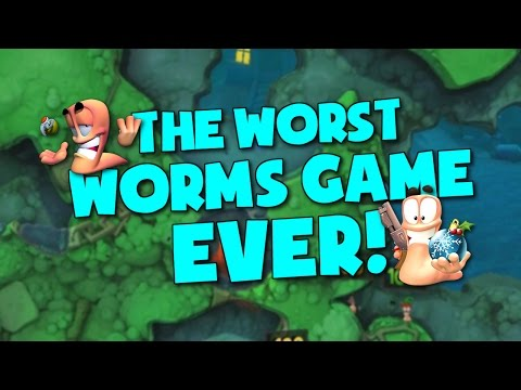 THE WORST WORMS GAME EVER! (Worms Revolution - Funny Moments) |