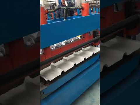 Trapezoidal Panel Roll Forming Machine cutting