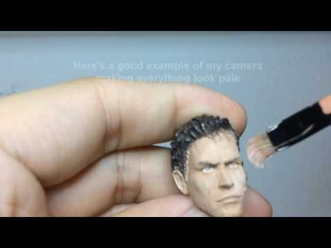 How to paint Skin, Eyes, and Lips - Customizing Live - Custom Action Figure Tutorial