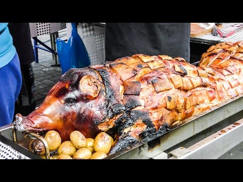 Huge Roasted Pig From Transylvania. Street Food Of London, Notting Hill