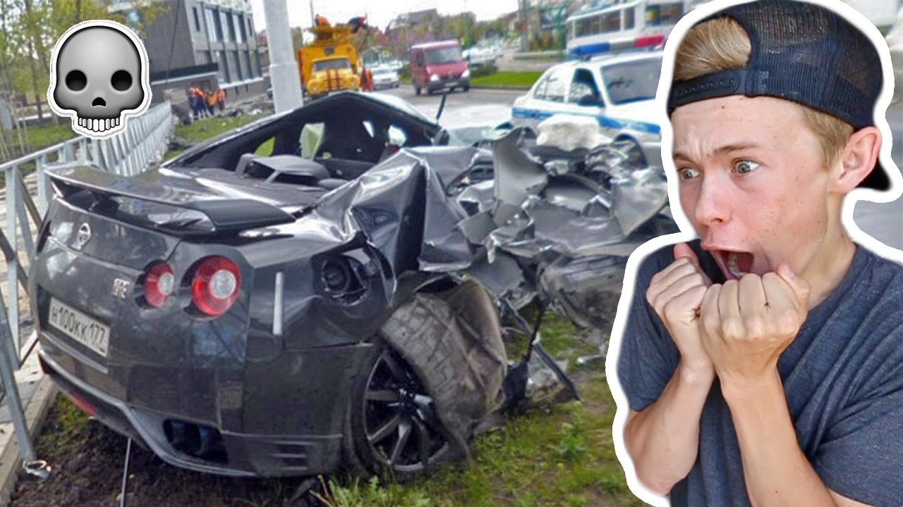 Reacting To Gtr Car Crashes By Tanner Fox