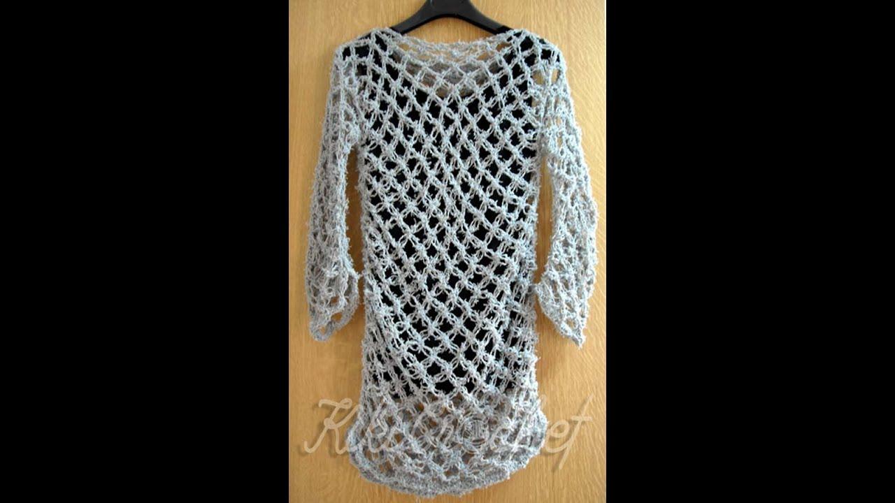 57d58f1f8ec7 Πλεκτη Μπλουζα με Πλεξη Σολομον (μερος 1ο)  Crochet Solomon s Knot Shirt  Tutorial (part 1)