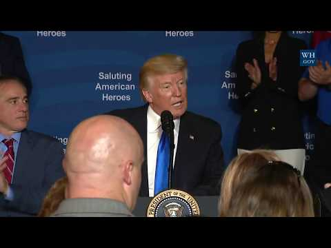 President Trump and the First Lady Participate in a Salute to American Heroes