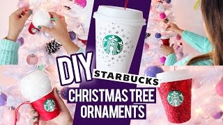 Diy Starbucks Ornaments ★ Christmas Tree Decor Ideas