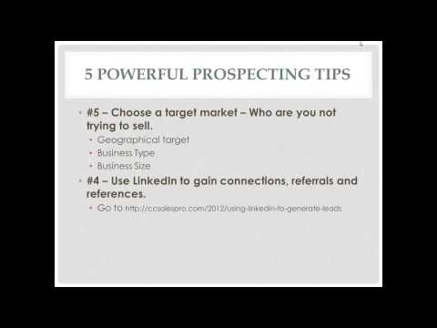 Webinar - 5 Powerful Prospecting Tips with Roll Play - How to Sell Merchant Services