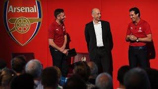 Unai Emery surprises fans at Emirates Stadium