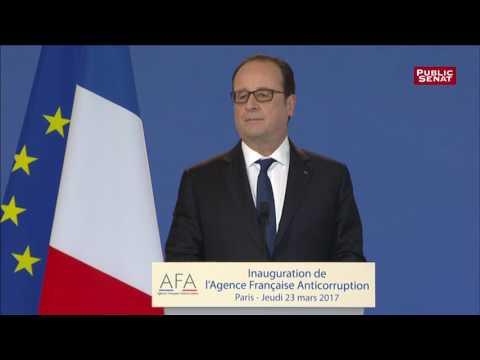 """François Hollande et la """"République exemplaire"""" à l'Agence Française Anticorruption"""