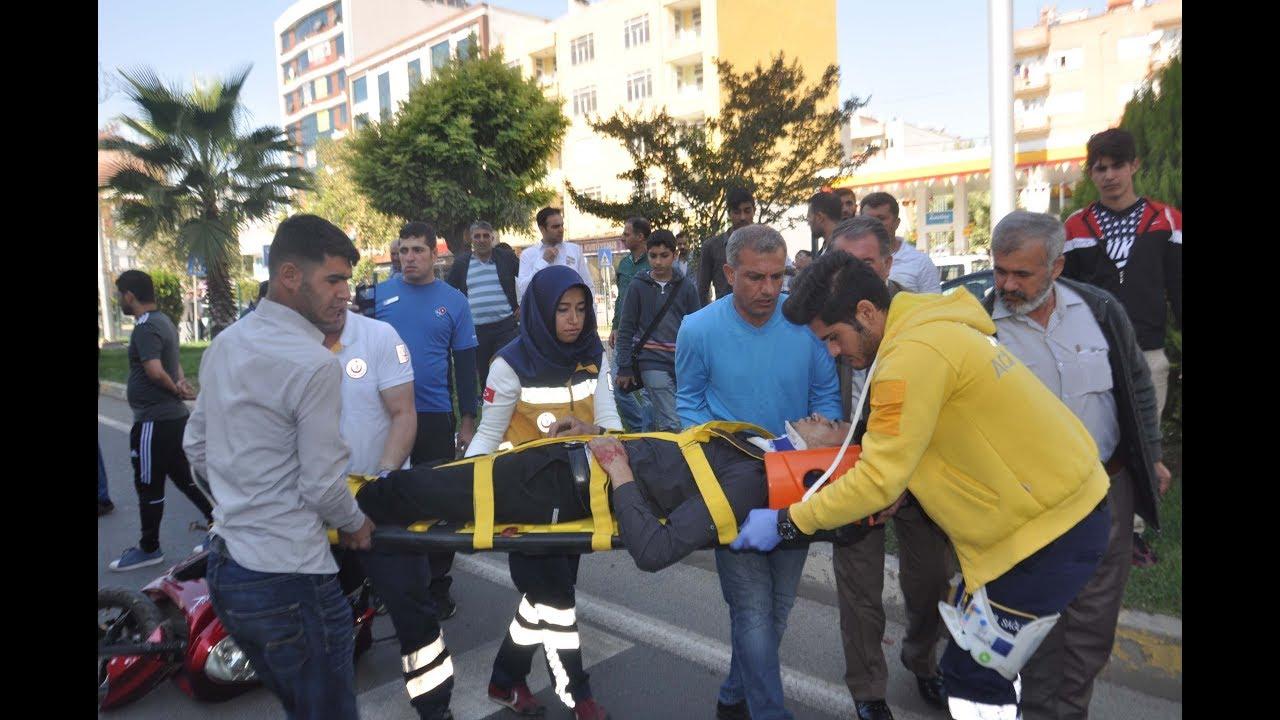 Elektrikli Bisiklet Yaya Çarptı: 2 Yaralı