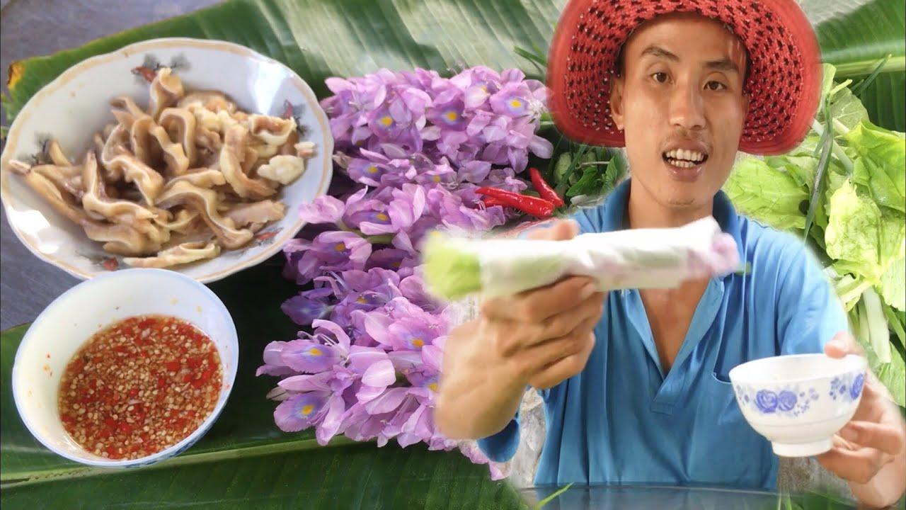 Gỏi Cuốn Hoa Lục Bình Ăn Là Ghiền | Ẩm Thực Miền Tây