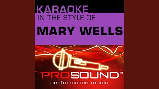 My Guy (Karaoke Instrumental Track) (In the style of Mary Wells)