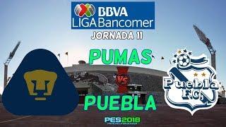 PES 2018 | Pumas vs Puebla | Jornada 11 Liga Mx | Gameplay PC