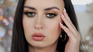 КРАСИВЫЙ ЗОЛОТИСТО ЗЕЛЕНЫЙ МАКИЯЖ ОБЗОР КОСМЕТИКИ O TWO O Как правильно сделать макияж для новичка