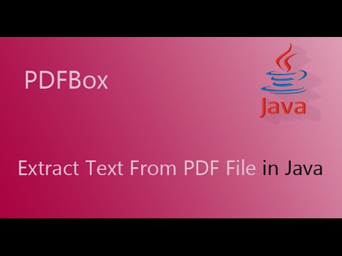 [Old] PDFBox Example Code: How to Extract Text From PDF file with java
