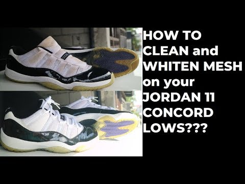HOW TO CLEAN - JORDAN 11 CONCORD LOWS