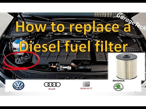 How To Change A Diesel Fuel Filter VW/Audi 2.0l TDI