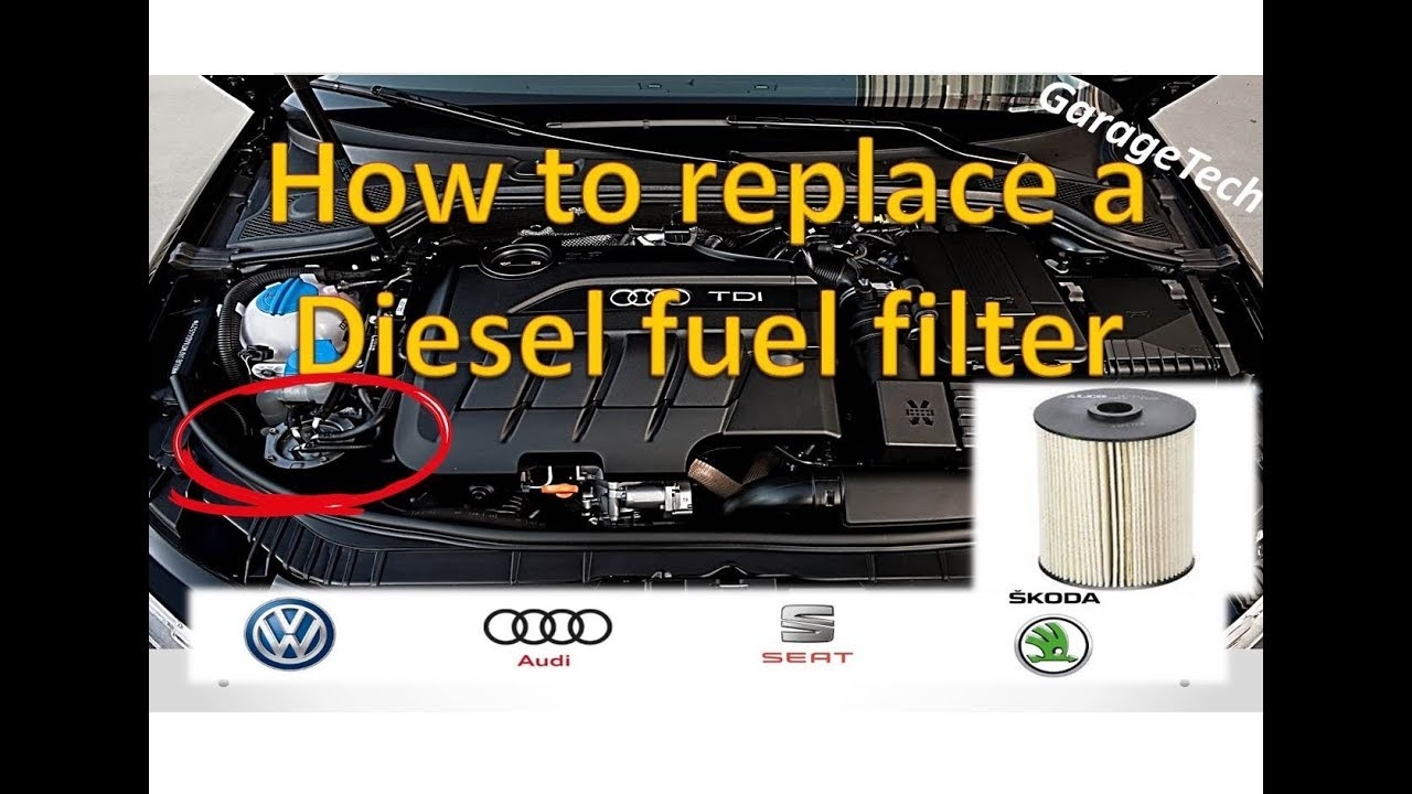 How To Change A Diesel Fuel Filter VW/Audi 2.0l TDI - YouTubeYouTube