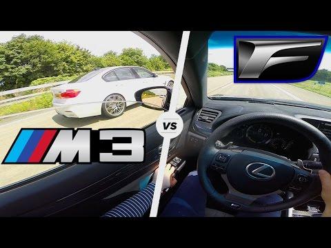 Lexus GS F vs BMW M3 COMPETITION Acceleration Autobahn POV Sound