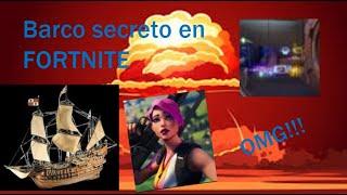 Ubicacion del barco secreto en FORTNITE