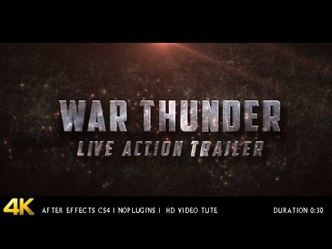 war thunder live action trailer — after effects project, Powerpoint templates