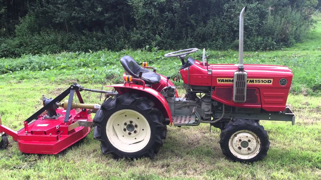 Yanmar Finish Mower : Yanmar d wd compact tractor with ft finishing mower