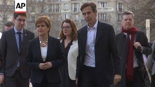 On a visit to Paris, Scotland's First Minister Nicola Sturgeon call...