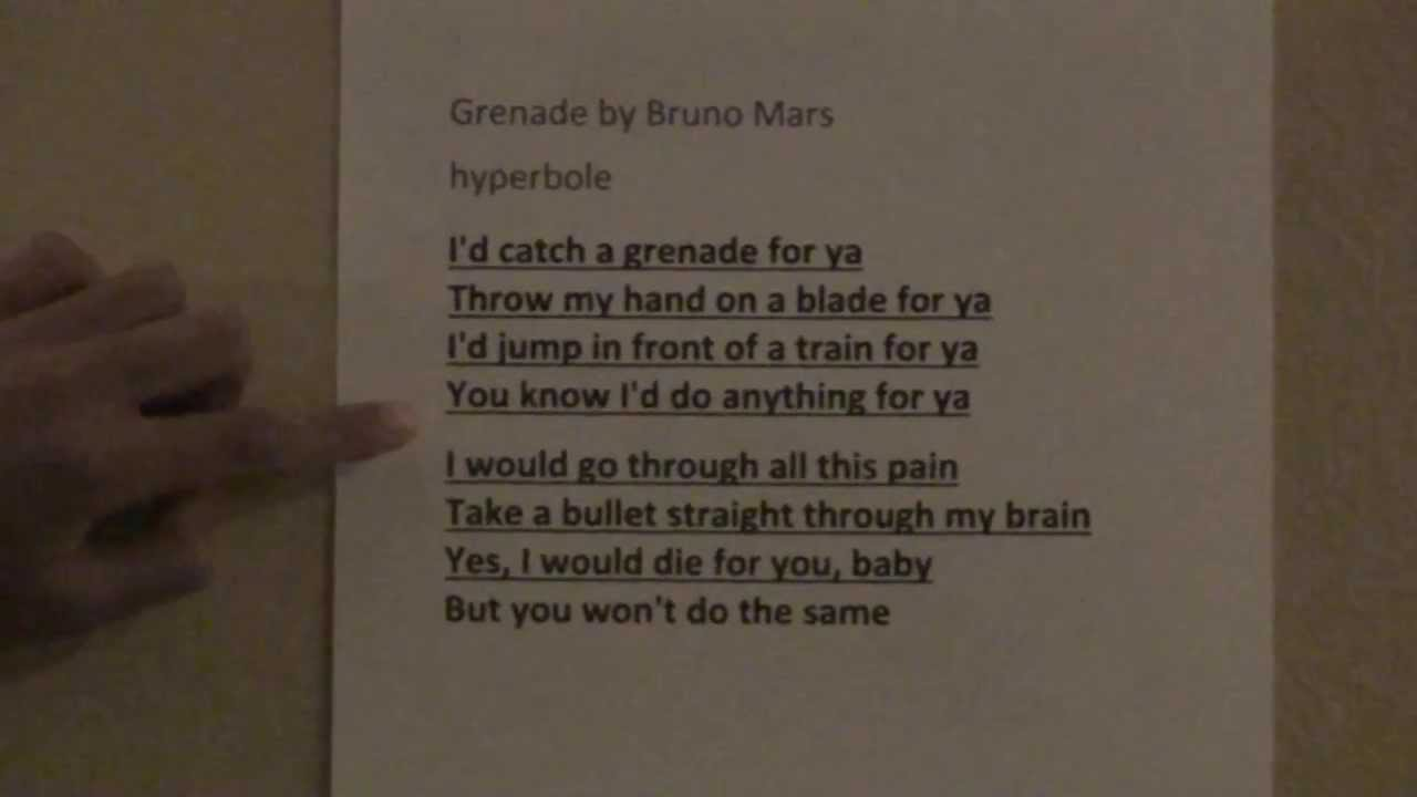 Ellacristinadt Tylers Project Grenade Alliteration And Hyperbole