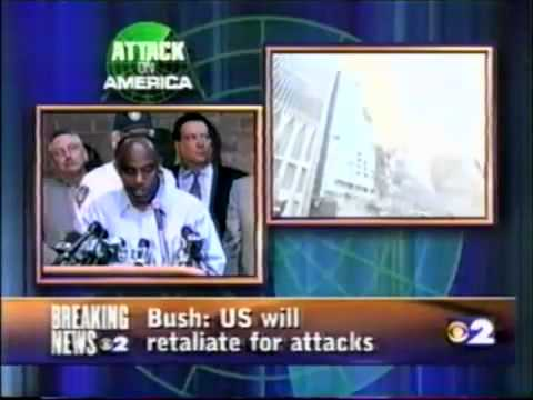 9/11 - Port Authority Press Confrence 9.45 pm WCBS