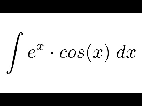 Integral Of E X Cos By Parts