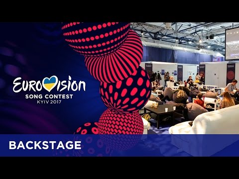 Backstage at the second Semi-Final of the 2017 Eurovision Song Contest