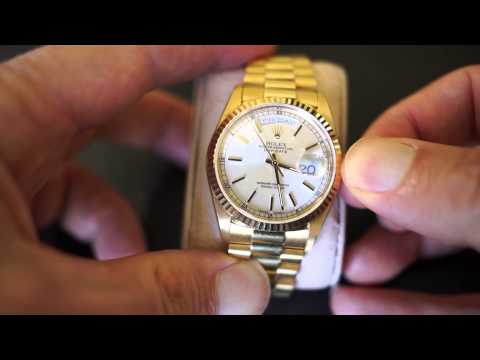 Rolex DAY DATE - Setting The Time