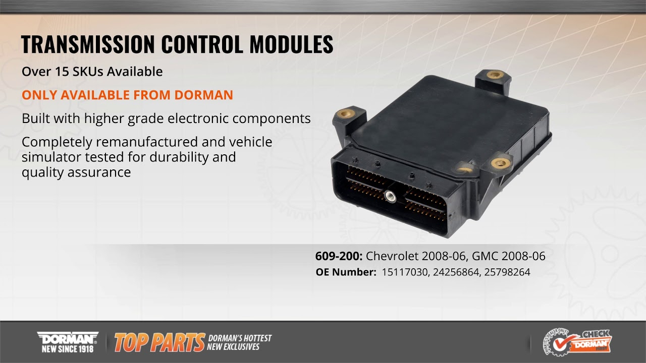 Highlighted Part: Transmission Control Module for Select Chevy Silverado &  GMC Sierra Models