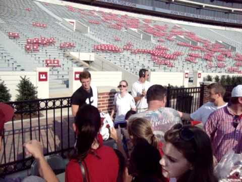Greg McElroy leaves 2010 Alabama Fan Day