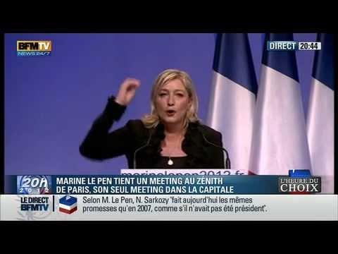 Meeting de Marine Le Pen au Zenith Paris 17042012