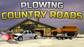 Farming Simulator 2015- Plowing The County Roads!