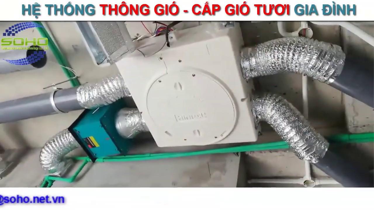 Hệ thống thông gió-cấp gió tươi gia đình anh Trung Vinhome Long Biên