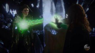Zelena  The Black Fairy Fight 6x18 Once Upon A Time