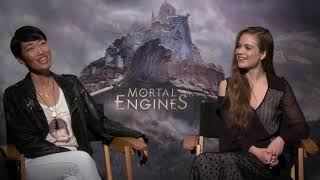 Mortal Engines Junket Hera Hilmar and Jihae