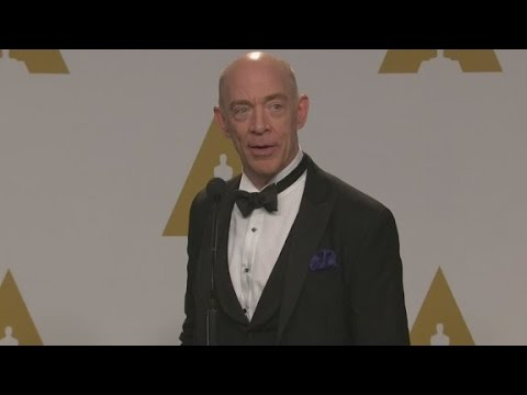 Raw: J.K. Simmons backstage at the Oscars